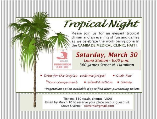 Tropical Night Fundraiser