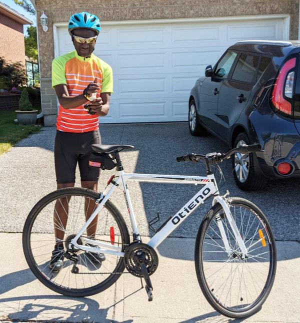 Dr. Peter Agwa and his bike